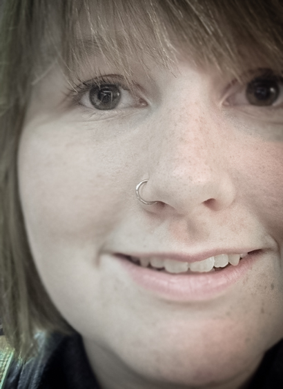 freckles and nostril