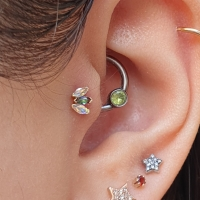 BVLA marquise in tragus piercing